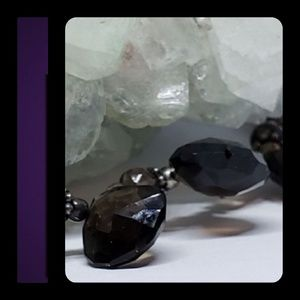 Jewelry - PRICE CUT! Smokey Quartz SS Choker Necklace